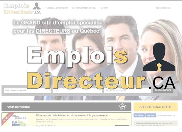 SITE D'EMPLOI POUR DIRECTEURS